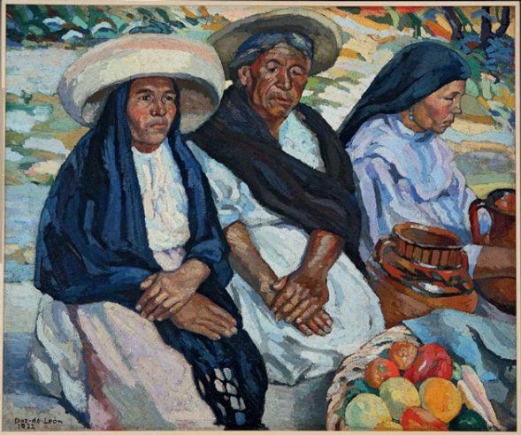 Francisco Díaz de León (1897-1975) - Indián nok a piacon 1922, Andrés Blaisten Gyüjteménye © Colección Blaisten