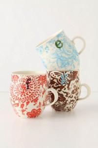 anthroplogie mug a monogramme galleries lafayette 11 euros