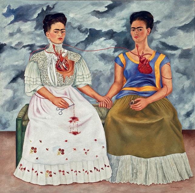 Frida Kahlo - A két Frida 1939 © INBA, Museo de Arte Moderno © 2016 Banco de México Diego Rivera Frida Kahlo Museums Trust, Mexico,, D.F. / Adagp, Paris