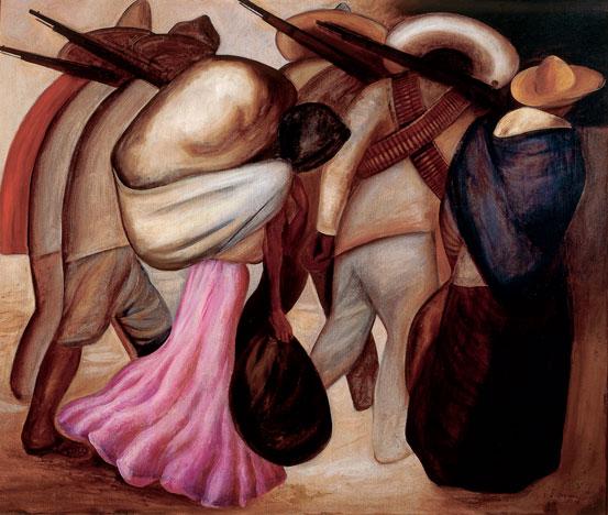 José Clemente Orozco (1883-1949) Katonák asszonyai 1926; México, INBA, Collection Museo de Arte Moderno Fotó © Francisco Kochen © Adagp, Paris 2016
