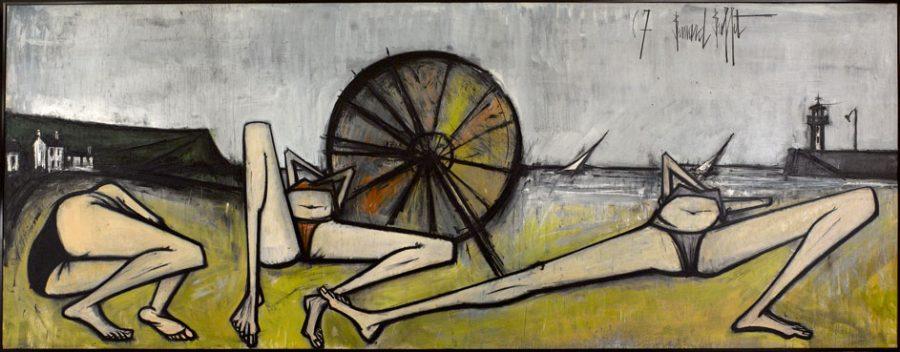 Les Plages, Le Parasol, 1967 200 x 524 cm, huile sur toile Musée d'Art moderne de la Ville de Paris © Musée d'Art moderne / Roger-Viollet © ADAGP, Paris 2016