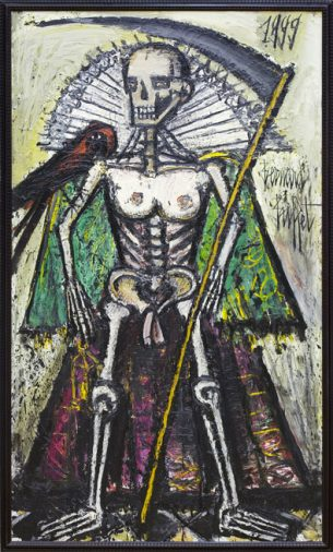 La Mort, La Mort 7, 1999 195 x 114 cm, huile sur toile Museum für Moderne Kunst, Frankfurt am Main © MMK Museum für Moderne Kunst Frankfurt © ADAGP, Paris 2016