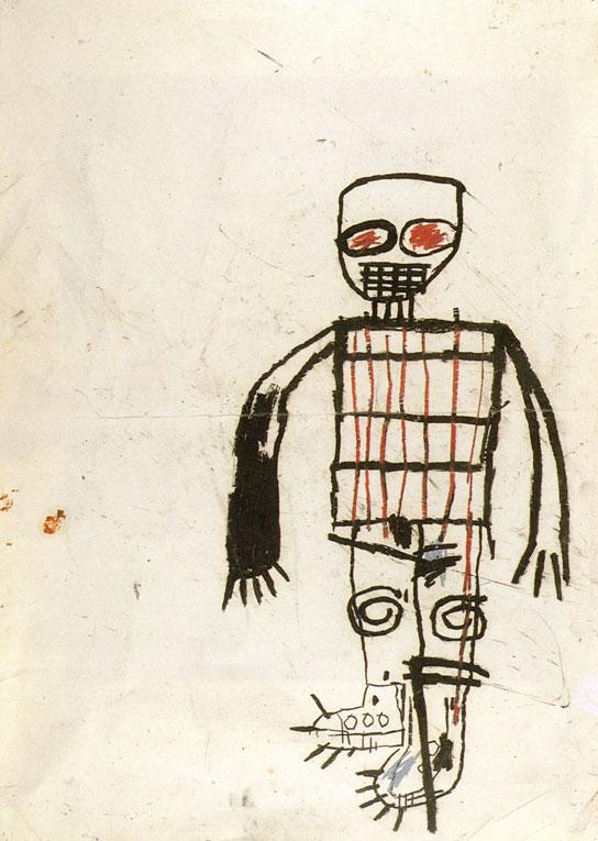 Jean-Michel Basquiat Autoportrait - 1983 Crayon gras sur papier – 108 x 77 cm Courtesy Collection agnès b. Jean-Michel Basquiat Autoportrait - 1983 Crayon gras sur papier – 108 x 77 cm Courtesy Collection agnès b. Section Qui est-on ?